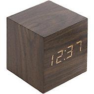 Thermomètre cube finition effet chêne