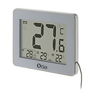 Thermomètre digital intérieur Otio blanc