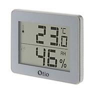 Thermomètre hygromètre digital intérieur Otio blanc