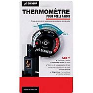 Thermomètre magnétique pour poêle et cheminée