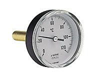 Thermomètre à plongeur bimétallique axial