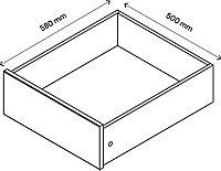 Tiroir intérieur effet chêne GoodHome Atomia H. 17 x L.46,4 x P. 50 cm