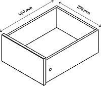 Tiroir intérieur effet chêne grisé GoodHome Atomia H. 17 x L. 33,9 x P. 39 cm