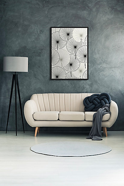 Toile Caisse Americaine Fleurs 65x92cm Noir Et Blanc Dada Art Castorama