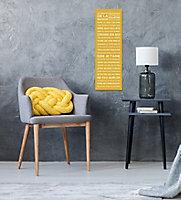 Toile imprimée Règles de la maison Jaune 25 x 75 cm
