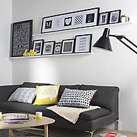 Toile imprimée Règles de la maison Noir & Blanc 55 x 75 cm