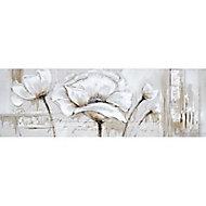 Toile peint main Fleurs 50 x 150 cm