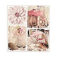 Toile rétro amour 55 x 60 cm