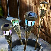 Torche LED solaire BLOOMA Tiki bleu