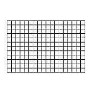 Treillis carré en métal noir 60 x h.90 cm
