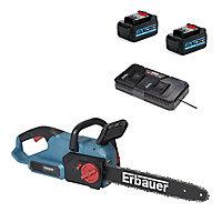 Tronçonneuse sur batterie Erbauer ECSG3640-Li 18V guide 40 cm (avec 2 batteries et chargeur)