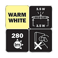 Tube LED S14s 3,5W blanc chaud