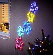 Tube lumineux 5 étoiles LED multicolore, électrique