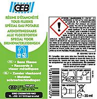 Tube pâte d'étanchéité raccord plastique Geb 20 ml