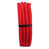 Tube PER prégainé rouge Ø.16 mm 50 m
