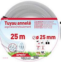 Tuyau annelé ø25 mm L.25 m