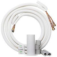 Tuyau de gaz pour climatiseur prêt à poser Qlima SC 4225/4232 (1/4 - 3/8) (mise en service incluse), 4 m
