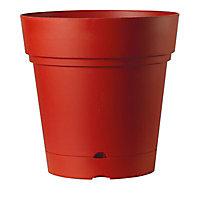 Vase rond à réserve d'eau plastique Deroma Samba griotte Ø58 x h.58 cm