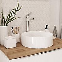 Vasque à poser céramique blanc GoodHome Scalea