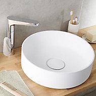 Vasque à poser ronde résine blanche GoodHome Apanas