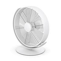 Ventilateur de table oscillant USB Tim blanc