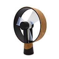 Ventilateur de table USB Airain bois