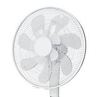 Ventilateur sur pied à moteur à courant continu FS40-16FR-2 BLYSS oscillation à 90° hauteur réglable 5fonctions 24vitesses blanc