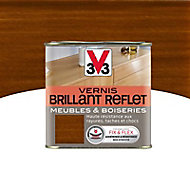 Vernis meubles et boiseries V33 Brillant reflet teck brillant 0,5L