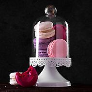 Verre imprimé Glassart cloche & macaron 30x30cm