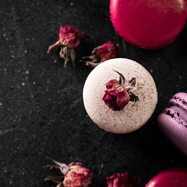 Verre Imprime Glassart Macarons Et Roses 30x30cm Castorama