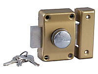 Verrou Alpha bouton 45mm menuiserie métal