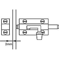 Verrou à pêne plat Diall 30 mm