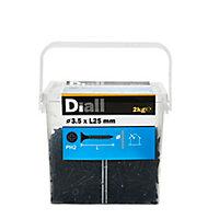 Vis pour plaque de plâtre (universelle), noir mat, 3,5x25 mm - 2kg