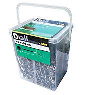 Vis pour terrasse extérieure avec revêtement Olive 5x50 mm - 500pièces