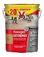 Vitrificateur parquet et plancher V33 Passage extrêmes chêne moyen satin 5L +20%