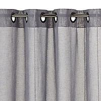 Voilage Calvi gris foncé mat 140 x 240 cm
