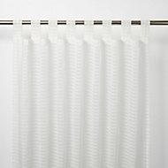 Voilage GoodHome Tolok blanc 140 x 260 cm