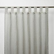 Voilage GoodHome Tolok gris 140 x 260 cm