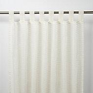 Voilage GoodHome Tolok ivoire 140 x 260 cm