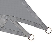 Voile d'ombrage triangle Blooma gris griffin 360 cm