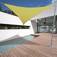 Voile d'ombrage triangle Morel vert anis 500 cm