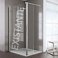Volet additionnel pour paroi de douche fixe 8 mm