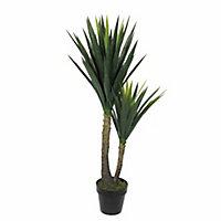 Yucca artificiel en pot vert ø60 x h.120 cm