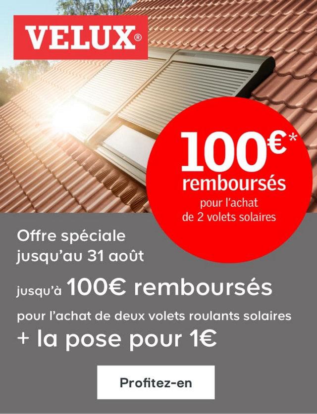 100 euros de remboursés pour l'achat de 2 volets solaires