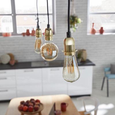 Ampoule à filament ST64 LED Diall E27 6W=40W blanc chaud