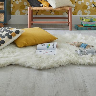 Tapis Mouton blanc 110 x 140 cm