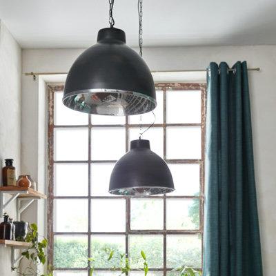 Suspension Suisei noir H.30 x l.55 cm