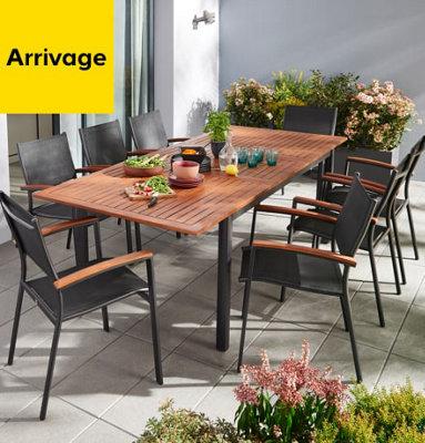 Table de jardin Toscana avec allonges 180+240cm